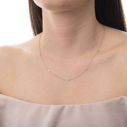 Gargantilha-de-Ouro-Branco-18k-Portuguesa-com-5-Diamantes-45cm-ga03188--joiasgold