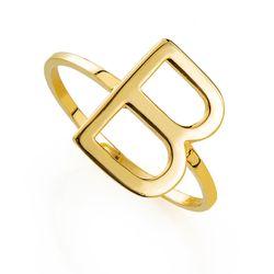 Anel-de-Ouro-18k-Letra-B-Liso-e-Vazado-an36076-Joias-Gold