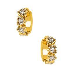 Argola-de-Ouro-18k-Brinco-Formato-Coracoes-e-Zirconias-br23761-Joias-Gold