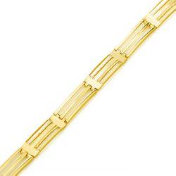 Pulseira-de-Ouro-18k-Gomos-Retangular-Vazado-com-23cm-pu04077-Joias-Gold