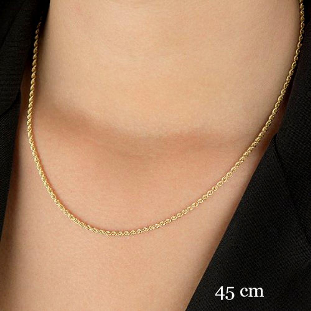 Corrente em Ouro 18k Cordão Baiano de 2,6mm com 45cm co01343 - joiasgold 83c926c69b