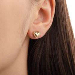 Brinco-de-Ouro-18k-Coracao-Liso-com-Diamantes-br21452--joiasgold