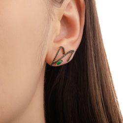 Brinco-de-Ouro-18k-Ear-Cuff-Crisoprasio-com-Zirconia-Negra-br22815-joiasgold