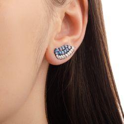 Brinco-de-Ouro-Negro-18k-Ear-Cuff-Zirconia-Azul-e-Branca-br22393-joiasgold