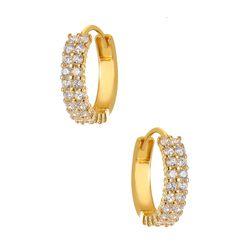 Brinco-de-Ouro-18k-Argola-com-2-Fileiras-de-Zirconias-br23967--joiasgold