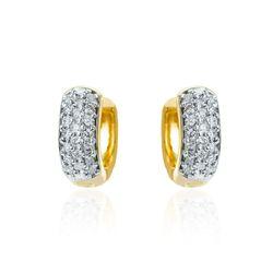 Brinco-de-Ouro-18k-Argola-Rodinada-com-40-Diamantes-br23430-Joias-Gold