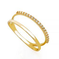 Anel-de-Ouro-18k-Aro-duplo-com-Zirconias-an33835-Joias-Gold