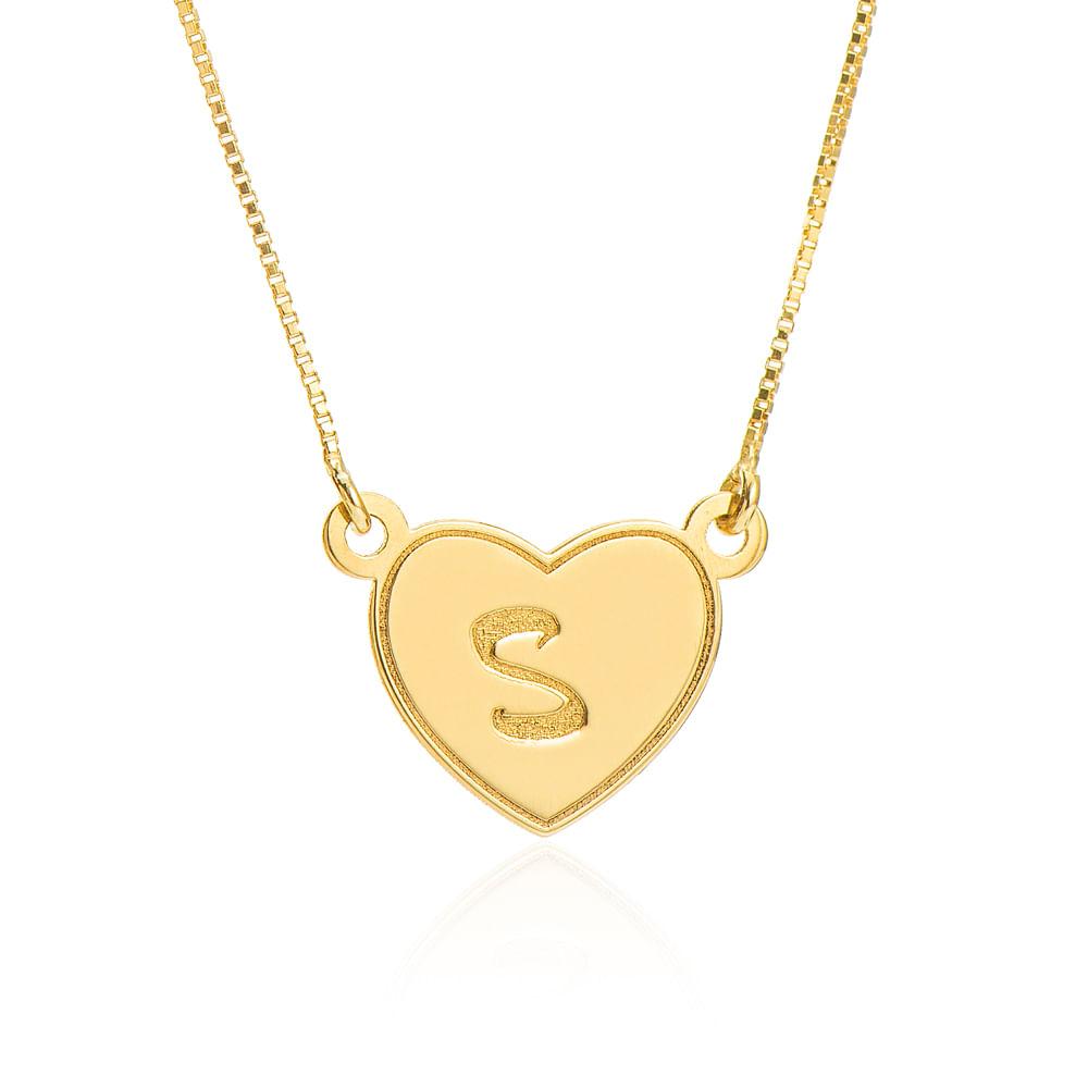 Colar de Ouro 18k Letra S com Veneziana 48cm ga04905 - joiasgold df20cfe948f52