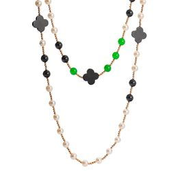 Colar-Flor-Agata-Negra-Jade-Verde-e-Hematitas-Bronze-ga04911-Joias-Gold