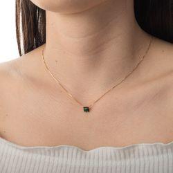 Gargantilha-de-Ouro-18k-Zirconia-Quadrada-Verde-ga04784-Joias-Gold
