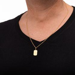 Corrente-com-Pingente-Placa-de-Ouro-18k-Masculina-60cm-ga04031--joiasgold