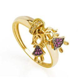 anel-meninas-zirconia-vermelha-joiasgold-an36548