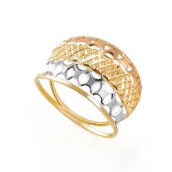 Anel-de-Ouro-18k-Abaulado-Vazado-Tricolor-Diamantado-an36122-joiasgold