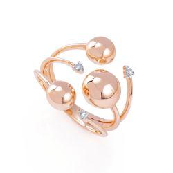 Anel-de-Ouro-Rose-18k-Meia-Bola-com-3-Diamantes-an36156--joiasgold