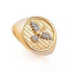 Anel-de-Ouro-18k-Divino-Espirito-Santo-Zirconia-com-Diamante-an36399-Joias-Gold