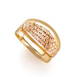 Anel-em-Ouro-Bicolor-18k-Quadriculado-Trabalhado-an34982-Joias-Gold