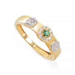 Anel-de-Formatura-em-Ouro-18k-Nutricao-com-Zirconia-Verde-an36298-Joias-Gold