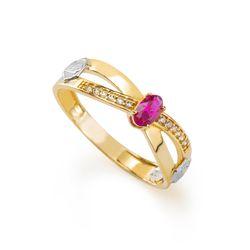 Anel-de-Formatura-em-Ouro-18k-Direito-com-Zirconia-Vermelha-an35892--Joias-Gold