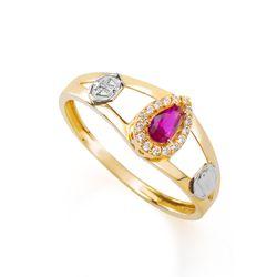 Anel-de-Formatura-em-Ouro-18k-Direito-com-Zirconia-Vermelha-an35912--Joias-Gold