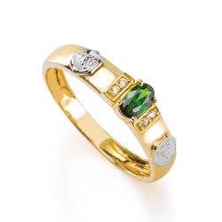 Anel-de-Formatura-em-Ouro-18k-Fisioterapia-com-Zirconia-Verde-an35906-Joias-Gold