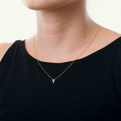Gargantilha-de-Ouro-18k-Quartzo-Rosa-com-Diamante-com-45cm-ga05025--joiasgold