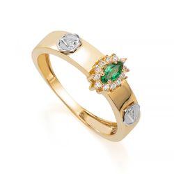 Anel-de-Formatura-em-Ouro-18k-Veterinaria-com-Zirconia-Verde-an35888--joiasgold