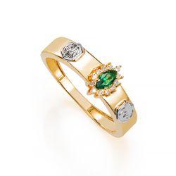 Anel-de-Formatura-em-Ouro-18k-Medicina-com-Zirconia-Verde-an36284--joiasgold
