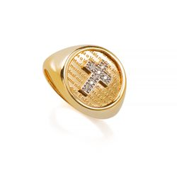 Anel-de-Ouro-18k-Cruz-com-Diamantes-e-Oracao-an36401-joiasgold