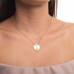 Gargantilha-em-Ouro-18k-Medalha-Letra-A-Rodinada-com-40cm-ga05080-joiasgold