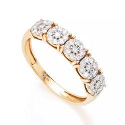 Anel-de-Ouro-18k-Meia-Alianca-Flores-com-Diamantes-an36436--joiasgold