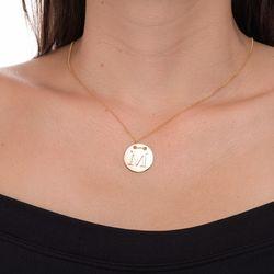 Gargantilha-em-Ouro-18k-Medalha-Letra-M-Rodinada-com-40cm-ga05079--joiasgold