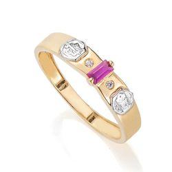 Anel-de-Formatura-em-Ouro-18k-Direito-com-Zirconia-Vermelha-an35899--Joias-Gold