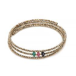 Pulseira-de-Ouro-18k-Espiral-Safira-Rubi-Esmeralda-e-Hematita-pu05410-joiasgold