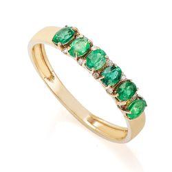 Anel-de-Ouro-18k-Meia-Alianca-6-Esmeraldas-e-Diamantes-10-Pontos-an355--joiasgold