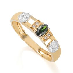 Anel-de-Formatura-em-Ouro-18k-Nutricao-com-Zirconia-Verde-an36303-Joias-Gold