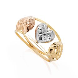 Anel-de-Ouro-18k-Tricolor-Coracoes-Trabalhados-an36588-Joias-Gold