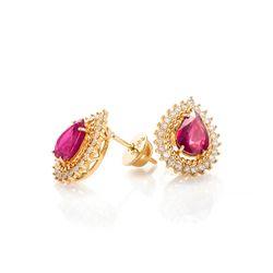 Brinco-de-Ouro-18k-Gota-com-Rubi-e-Diamantes-br20868-joiasgold