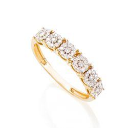 Anel-de-Ouro-18k-Meia-Alianca-Flores-com-Diamantes-an36437--joiasgold