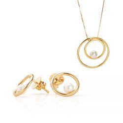 Conjunto-de-Ouro-18k-Brinco-e-Gargantilha-Circulo-Vazado-com-Perola-cj--joiasgold
