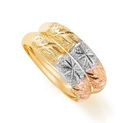 Anel-em-Ouro-18k-Par-de-Aparador-Faixas-Trabalhadas-Diamantadas-an36628-Joias-Gold