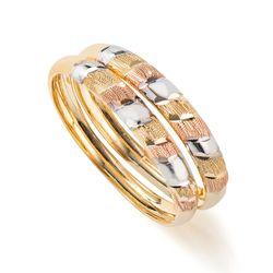 Anel-em-Ouro-Tricolor-18k-Par-de-Aparador-Faixas-Diamantado-an36624-Joias-Gold