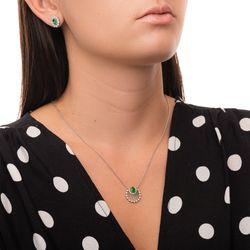 Brinco-de-Ouro-Branco-18k-Esmeralda-Oval-com-Diamantes-br23709-joiasgold