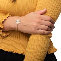 Pulseira-de-Ouro-18k-Mandala-Trabalhada-com-Zirconia-19cm-pu05269-Joias-gold