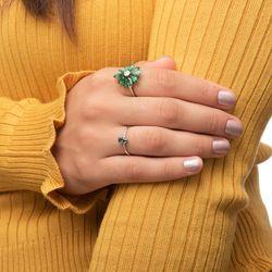 Anel-de-Ouro-Branco-18k-Topazio-Verde-Gota-6-Diamantes-an35335-Joias-gold