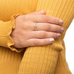 Anel-em-Ouro-Tricolor-18k-Aparador-Abaulado-Faixas-Diamantadas-an36626-Joias-gold