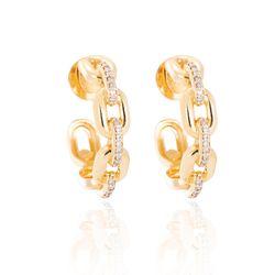 Brinco-de-Ouro-18k-Meia-Argola-de-Elos-e-Diamantes-br24284--joiasgold