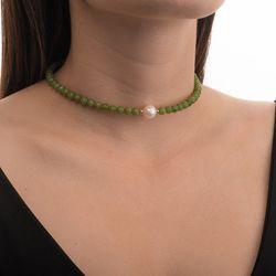 Gargantilha-Choker-Jade-Verde-com-Perola-e-Bolinhas-de-Ouro-18k-ga0526-JOIASGOLD