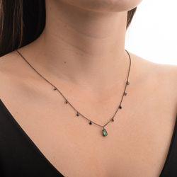 Gargantilha-de-Ouro-Negro-18k-Gota-Esmeralda-Diamantes-Negros-ga05282-joiasgold