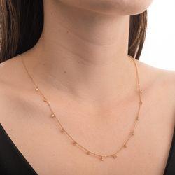 Gargantilha-de-Ouro-Rose-18k-Diamantes-Pendurados-Portuguesa-45cm-ga05365-joiasgold