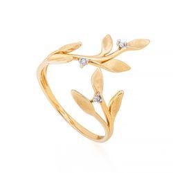 Anel-de-Ouro-18k-Folhas-com-Diamantes-Aro-Aberto-an34558--joiasgold